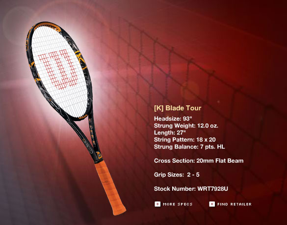 Wilson tennis ra...A And K Tour